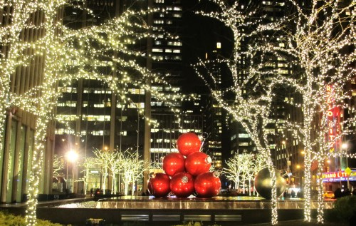 Weekly Photo Challenge: A beautiful  NYC Winter display of lights.