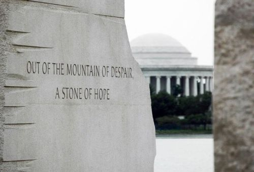Stone of Hope For Dr King at NPS Memorial site