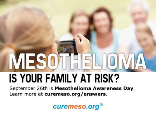 Mesothelioma Awareness Day: Get Involved! Is your family at risk?