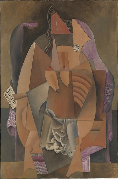 CUBISM: The Exhibition At The Met Museum - Woman in a Chemise in an Armchair, Pablo Picasso, 1914