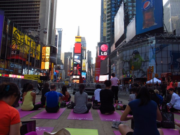 Weekly Photo Challenge: Achievement - Solstice Yoga at Times Sq