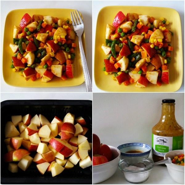 Food Files: Apple Salad w/ Chili Lime Sauce - Ingredients