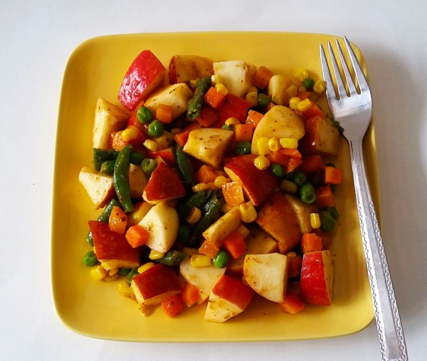 Food Files: Apple Salad w/ Chili Lime Sauce
