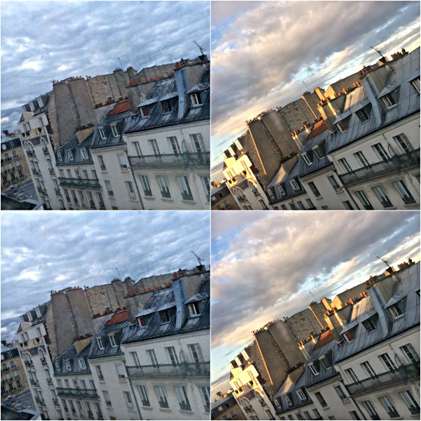Weekly Photo Challenge: INSPIRATION - Sunrise & Sunset view of rooftops on Montparnasse