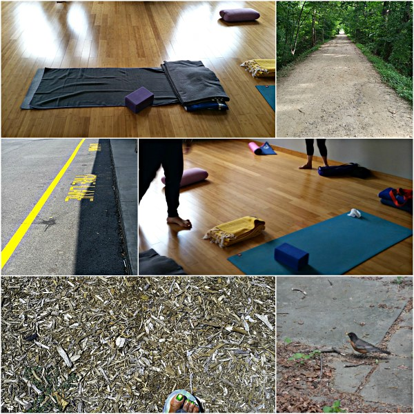 Weekly Photo Challenge: Beneath Your Feet...Yoga class, the Street & Nature