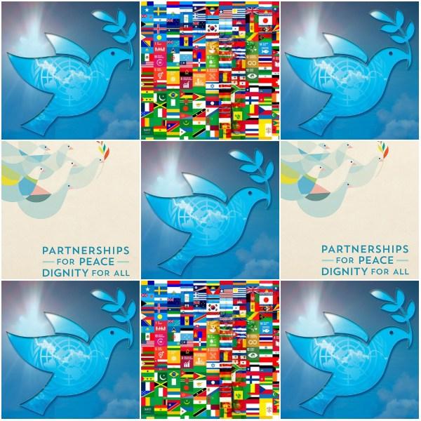 Motivation Mondays: Partnerships For Peace - Peace Collage