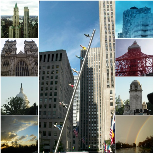 Weekly Photo Challenge: LOOK UP - at Buildings & Art