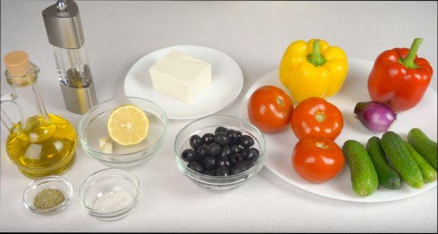 Классический греческий салат - общие принципы и подготовка продуктов