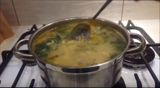грибной суп целая кастрюля