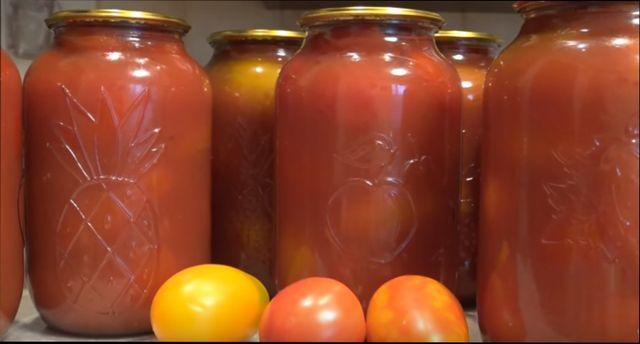 Помидоры в собственном соку: простые и вкусные рецепты
