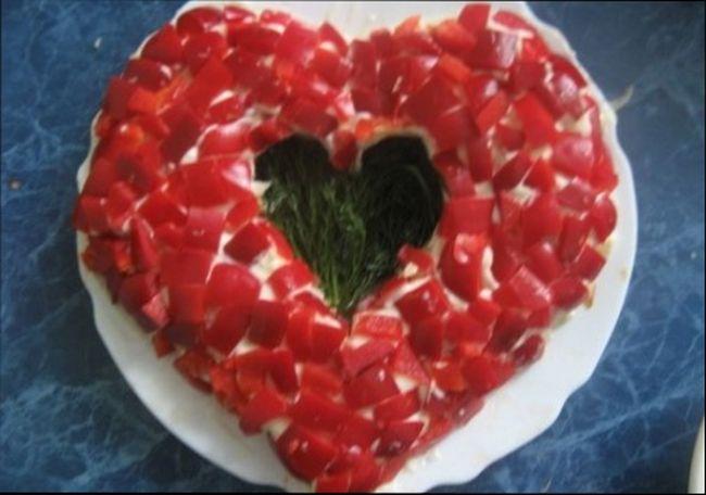 Закуска «Два сердца»
