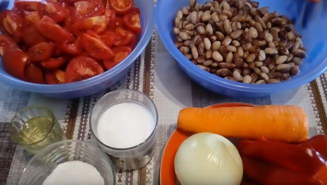 Рецепт с овощами - фасоль по-монастырски