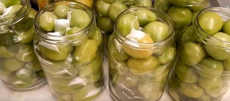 рецепты зеленых помидор с чесноком
