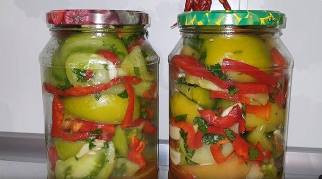 Рецепт помидр с болгарским перцем