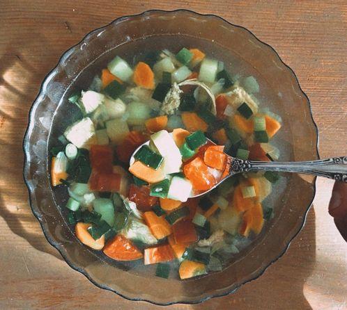 рецепт вкусного куриного супа Влюблённое сердце