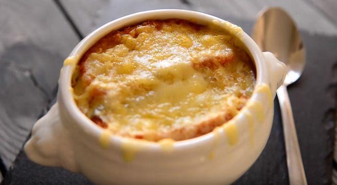 Подробный рецепт Французский луковый суп