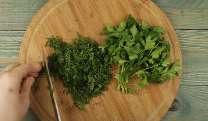 начинка для хычинов с зеленью