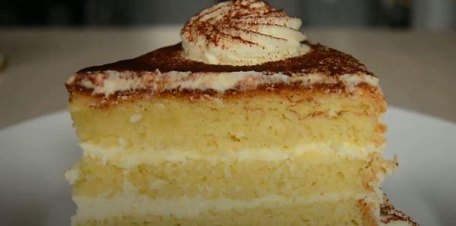 как приготовить бисквитный торт с кремом или пирожные