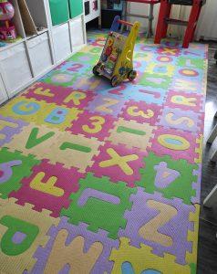 puzzle de goma espuma para el suelo y parques infantiles