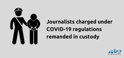 Journalists charged under COVID-19 regulations remanded in custody