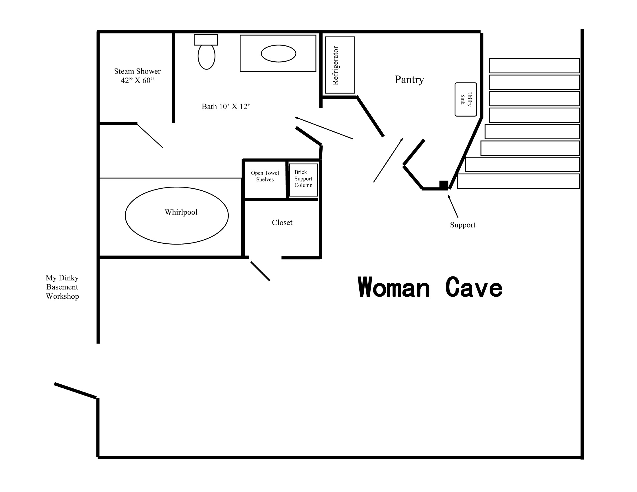 Woman Cave Floor Plan