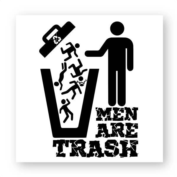 Stickers carré - MEN ARE TRASH