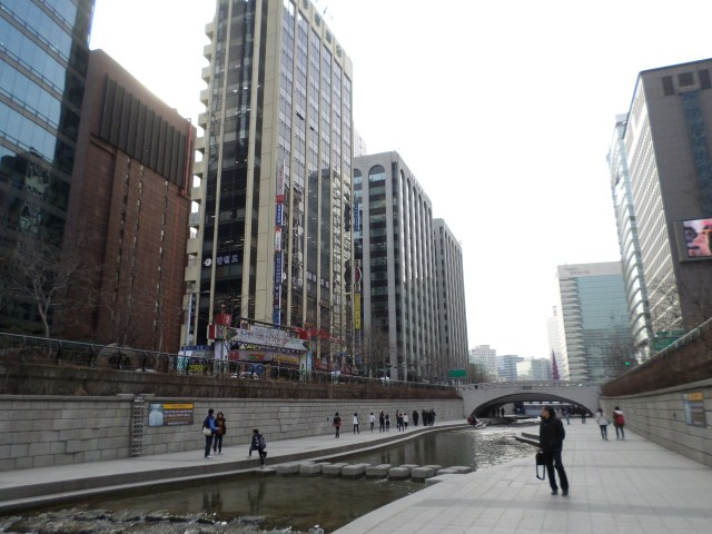 Cheonggyecheon (man-made river) in Seoul