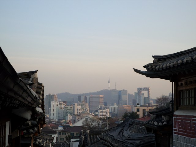 The beautiful view from Bukchon Village