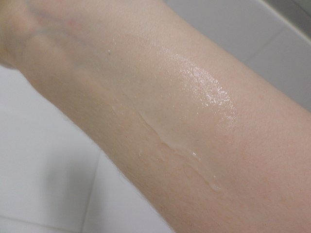 A swatch of Nature Republic's bestseller on my arm... so smooth!