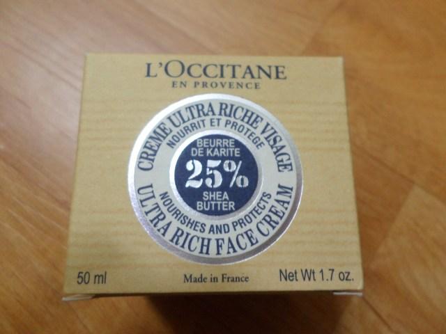 L'Occitane Ultra Rich Face Cream packaging
