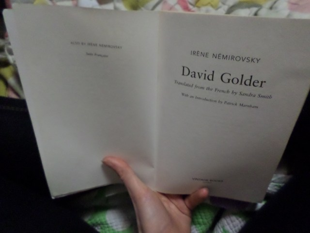 David Golder... it begins