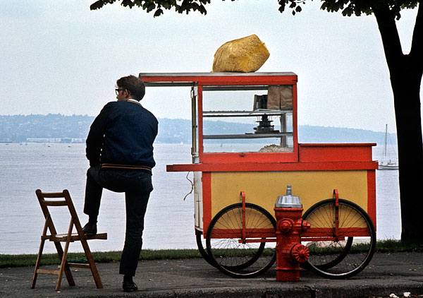 Popcorn cart English Bay Vancouver