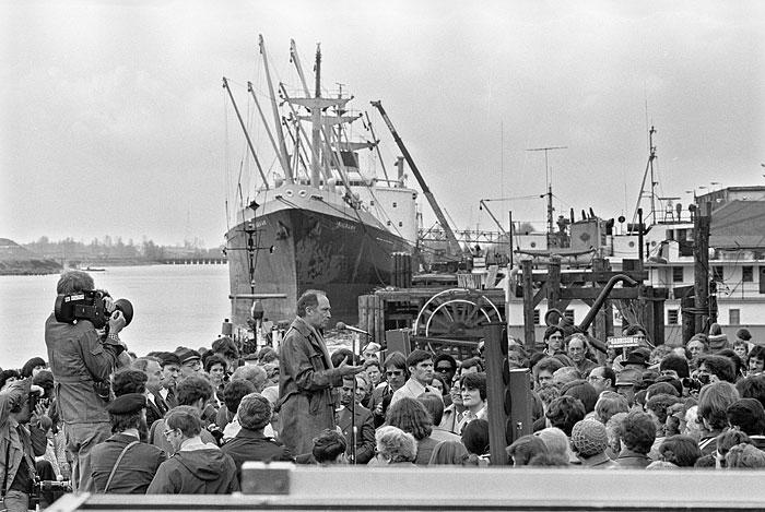Pierre Trudeau campaigning Vancouver 1979