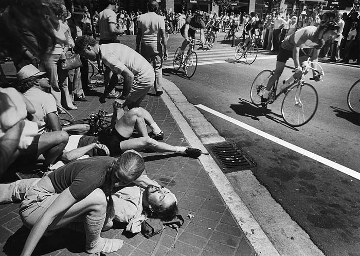 Bike crash Gastown Grand Prix 1977
