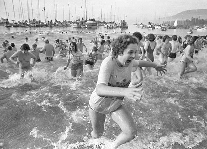 Polar bear swim Vancouver 1980s