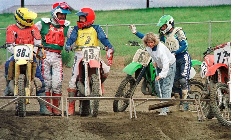 Joan St Pierre motocross