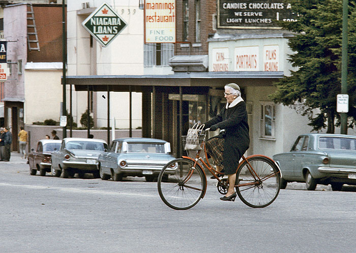 Cyclist in Revelstoke 1968