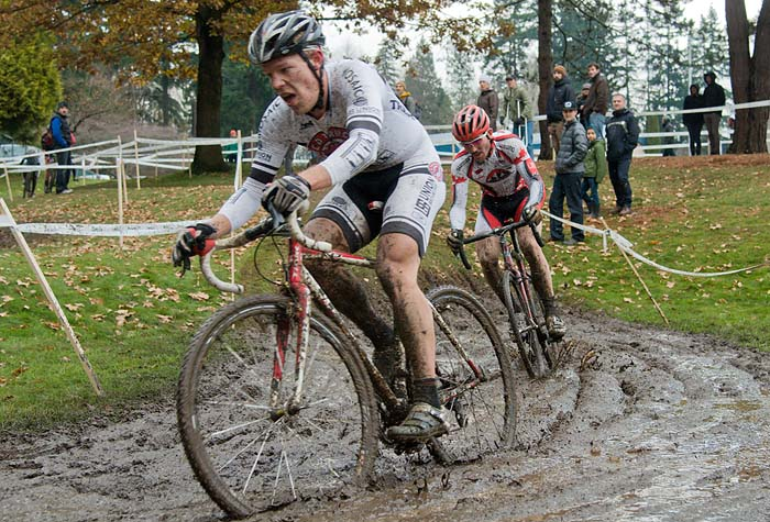 BC Championship cyclocross race at Mahon Park in North Vancouver.