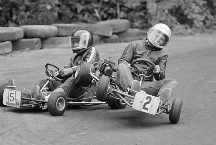 Sprint kart racing at Westwood Racing Circuit