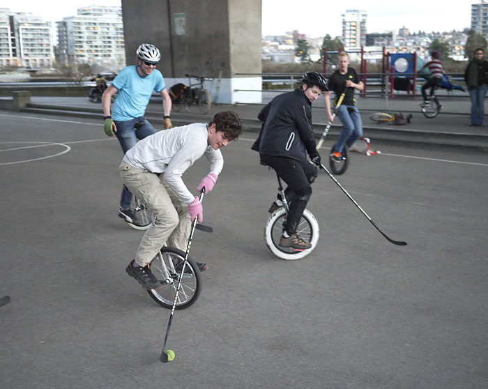 unicycle hockey in vancouver