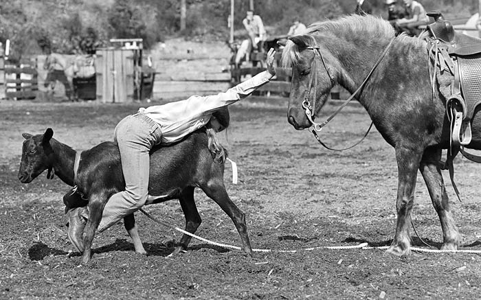 August 23rd, 1975 -- Women's and children's rodeo in Langley.