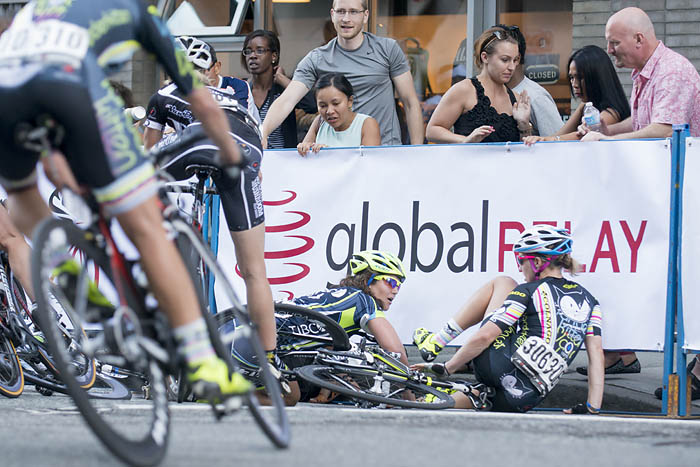 Gastown Gran Prix crash