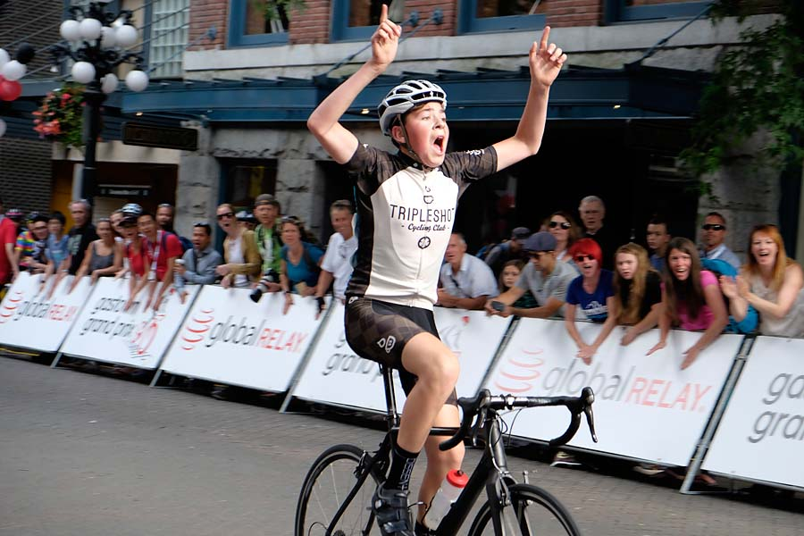 Ethan Pauly Gastown Grand Prix winner