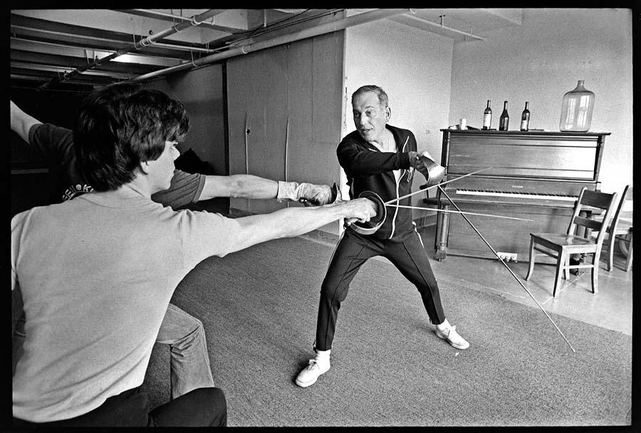 Paddy Crean fencing class