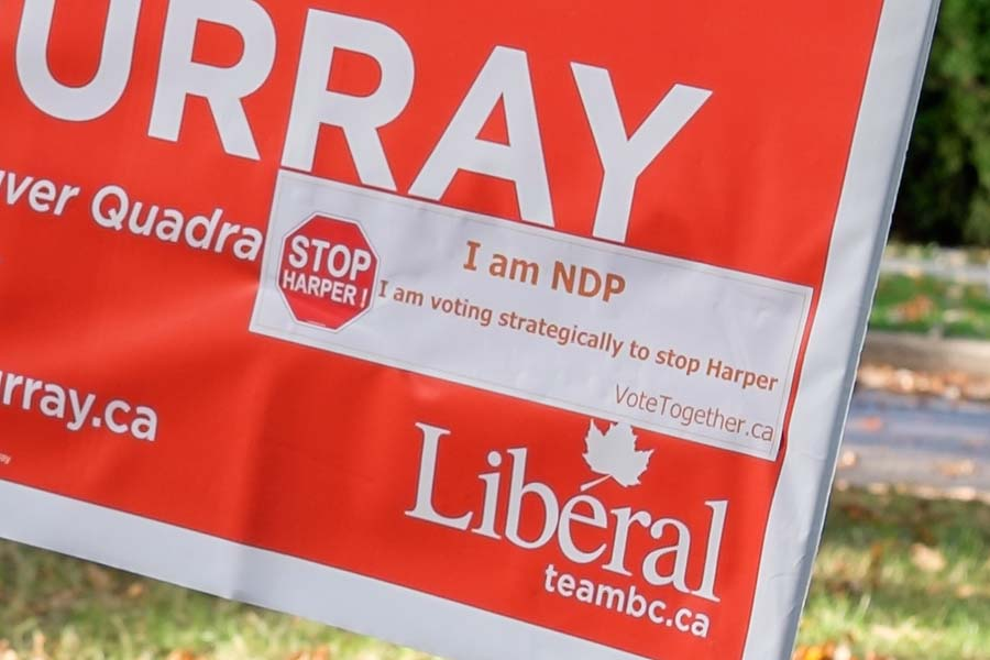 Liberal campaign poster small
