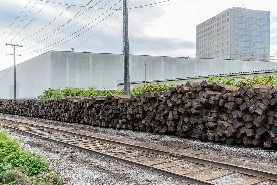 Railway ties from Arbutus Corridor