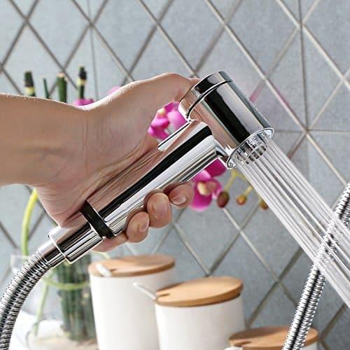 Mischbatterie Küche mit Handbrause