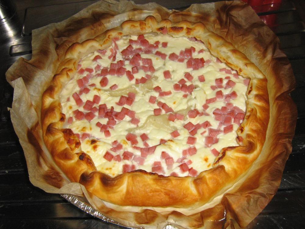 Torta salata - prosciutto e crescenza (2/2)