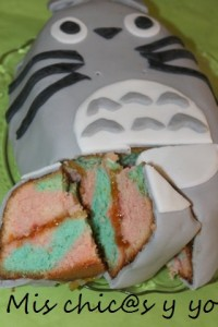 Totoro bizcocho colores