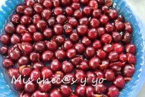 cerezas frescas clafoutis